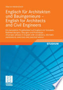 Englisch F R Architekten Und Bauingenieure