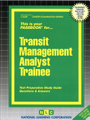 Transit Management Analyst Trainee
