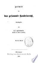 Zeitschrift F  R Das Gesammte Handelsrecht : ...