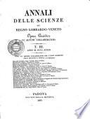 Annali delle scienze del regno Lombardo-Veneto