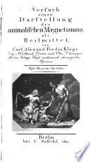 Versuch einer Darstellung des animalischen Magnetismus  als Heilmittel