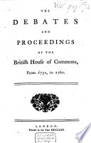 A Collection of the Parliamentary Debates in England  from the Year 1668   1774