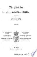 Die Chroniken der oberrheinischen Städte