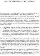 Hayek's Political Economy