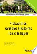 illustration Méthodes Statistiques de L'économie Et de la Gestion: Probabilités, variables aléatoires, lois classiques