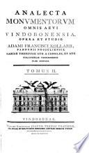 Analecta monvmentorvm omnis aevi Vindobonensia