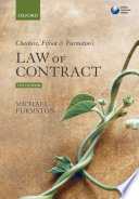 Cheshire  Fifoot and Furmston s Law of Contract