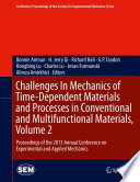 Challenges In Mechanics of Time Dependent Materials and Processes in Conventional and Multifunctional Materials  Volume 2