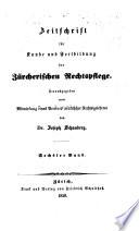 Zürcherische Zeitschrift für Gerichtspraxis und Rechtswissenschaft