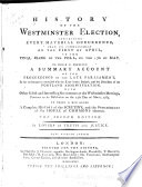 History of the Westminster Election