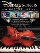 Disney Songs for Solo Violin   Piano