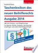 Taschenlexikon des neuen Beihilferechts Ausgabe 2014