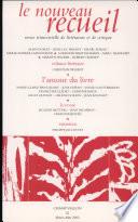 Le nouveau recueil N   62 Mars Mai 2002   L amour du livre