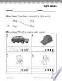 Kindergarten Foundational Phonics Skills  Sight Words