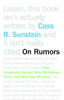 On Rumors Dark Secrets About Public Officials Hidden