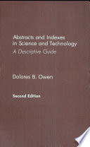Abstracts and Indexes in Science and Technology