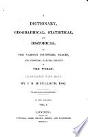 A dictionary, geographical, statistical, and historical, of the various countries, places, and principal natural objects in the world Pdf/ePub eBook