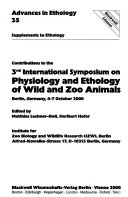 Advances in Ethology