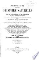 Dictionnaire universel d histoire naturelle