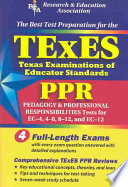 TExES PPR  REA    the Best Test Prep for the Texas Examinations of Educator Stds