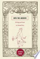 Into the Archive Book PDF