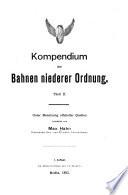Kompendium der bahnen niederer ordnung
