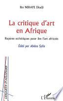 La critique d art en Afrique