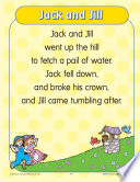 Learning Center Activities for  Jack and Jill