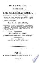 illustration De la manière d'étudier les mathématiques: ptie. Préceptes généraux et arithmétique. 1810