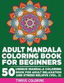 Adult Mandala Coloring Book For Beginners