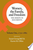Women  the Family  and Freedom  1750 1880