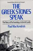 . The Greek Stones Speak .