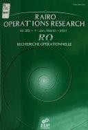 RAIRO, Revue française d'automatique, d'informatique et de recherche opérationnelle