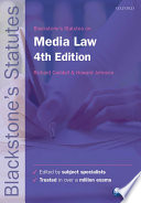 Blackstone s Statutes on Media Law