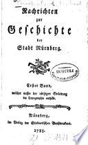 Nachrichten zur Geschichte der Stadt Nürnberg