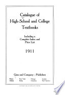 Catalogue of High school and college textbooks