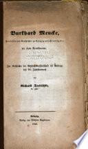 Burkhard Mencke, Professor der Geschichte zu Leipzig und Herausgeber der Acta Eruditorum