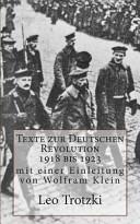 Texte Zur Deutschen Revolution 1918 Bis 1923