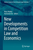 New developments in competition law and economics document cover