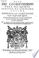Vita di papa Pio V  con una raccolta di lettere di Pio V  et le risposte