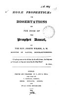 download ebook horæ propheticæ: or dissertations on the book of the prophet daniel pdf epub