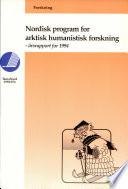 Nordisk program for arktisk humanistisk forskning