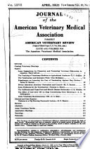 Journal of the American Veterinary Medical Association Book PDF