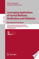 Leveraging Applications of Formal Methods  Verification and Validation  Foundational Techniques