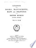 Catalogue of the Books  Manuscripts  Maps and Drawings in the British Museum  Natural History
