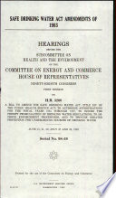 Safe Drinking Water Act Amendments of 1983
