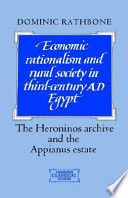 Economic Rationalism and Rural Society in Third Century AD Egypt