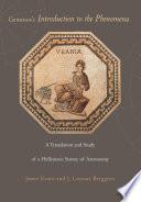 Geminos S Introduction To The Phenomena