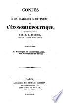 Contes de miss Harriet Martineau sur l'e conomie politique