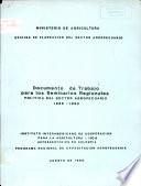 Documento de Trabajo Para Los Seminarios Regionales